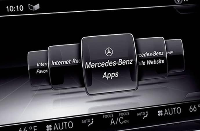Mercedes me connect in-car services