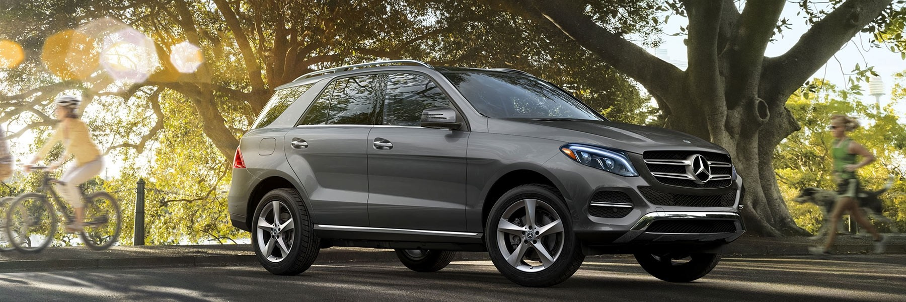 GLE driving near park