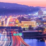 charleston west virginia at night