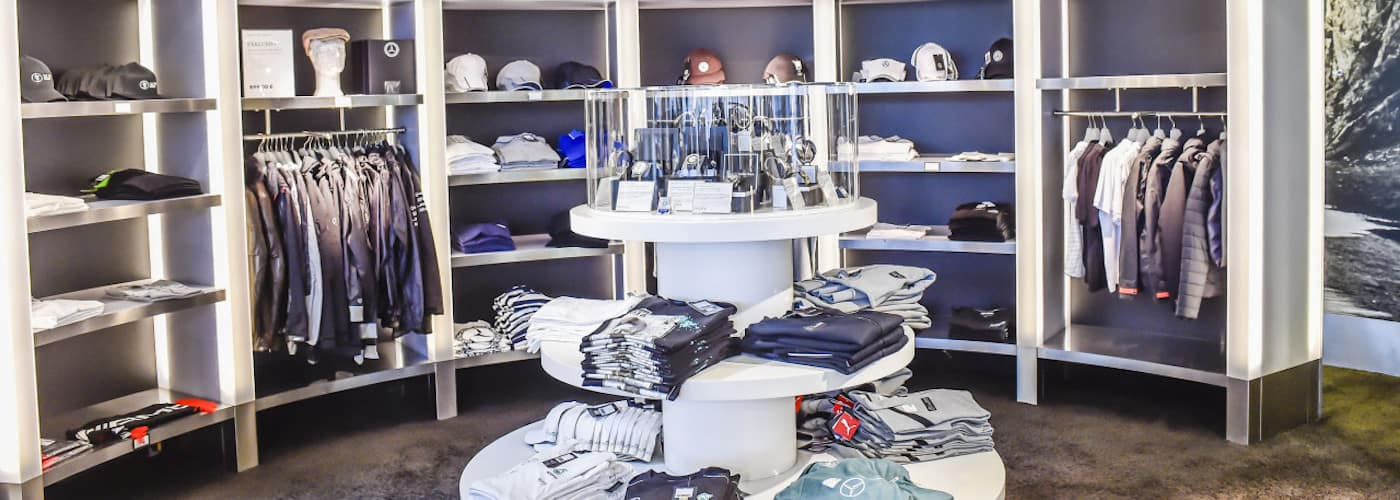 mercedes benz apparel display
