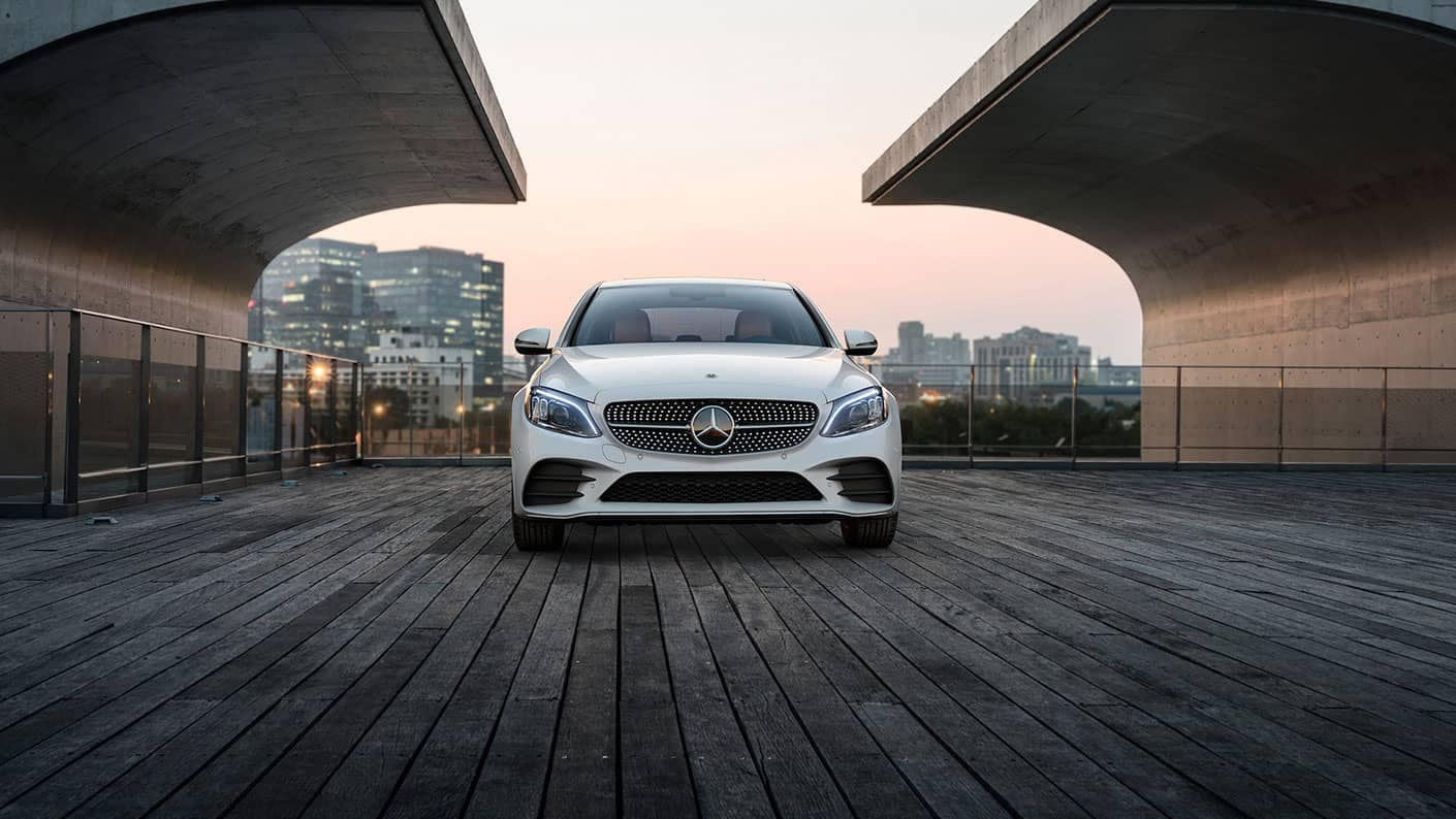 2019 Mercedes-Benz C-Class Sedan white front exterior