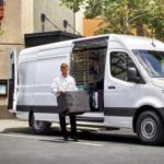 2020 Mercedes-Benz Sprinter Cargo Van side door open