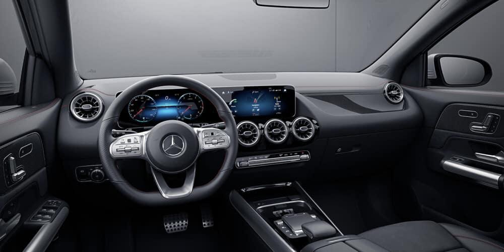 black interior of a 2021 Mercedes-Benz GLA
