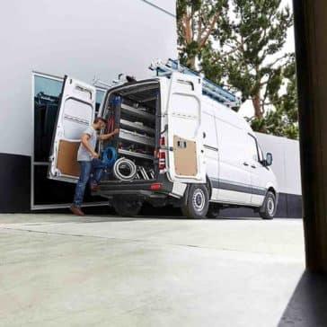 2017 Sprinter Cargo Van Loading