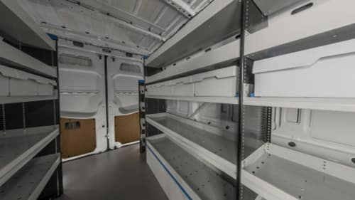 Sprinter Interior With Shelves