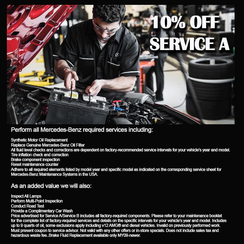 10% off service A