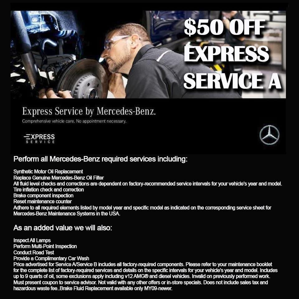 Express service A $50 Off