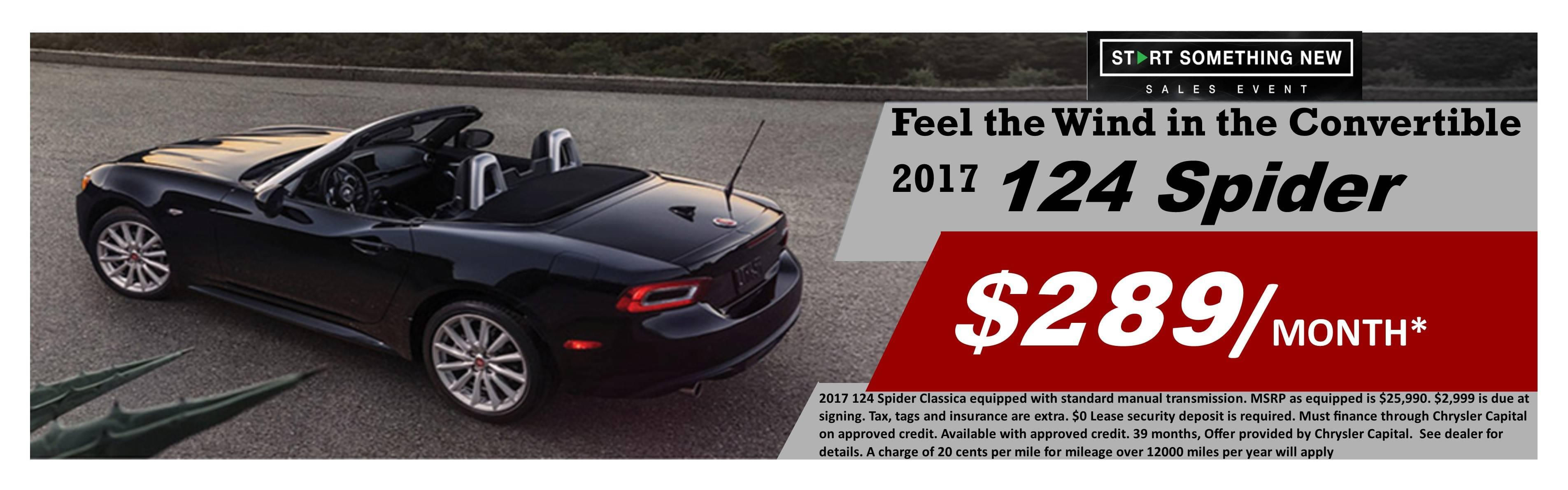 Lease Your 2017 FIAT 124 Spider at Mike Ward FIAT Near ...