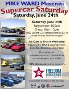 This Saturday Supercar Saturday Car Show Near Denver Colorado - Is there a car show near me today