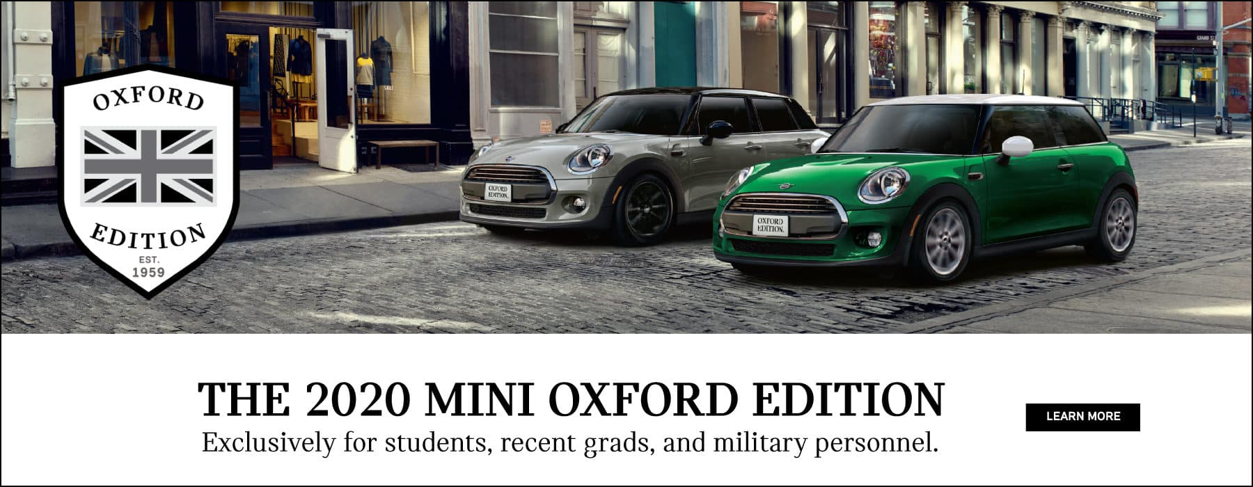 2020 MINI OXFORD EDITION. Exclusively for students, recent grads, and military personnel. Click to learn more.