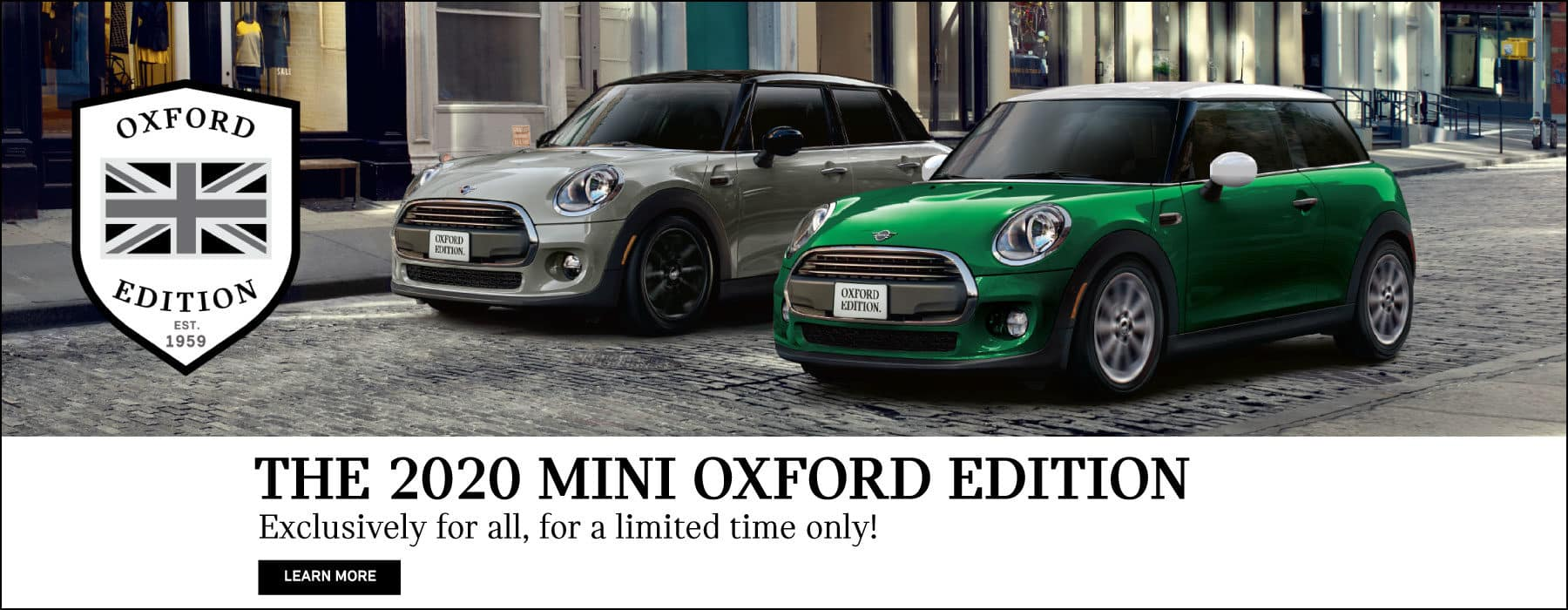 2020 MINI OXFORD EDITION. Exclusively for all, for a limited time only! Click to learn more.