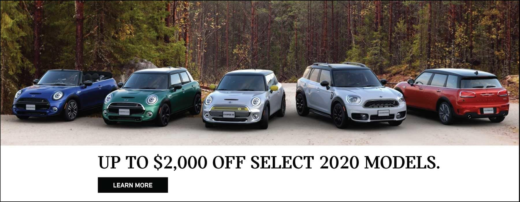 UP TO $2000 OFF SELECT 2020 MINI MODELS