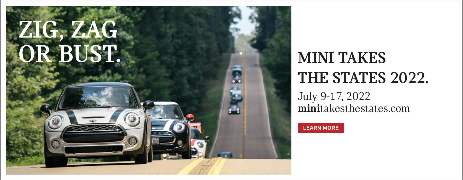 MINI TAKES THE STATES FROM JULY 9-17, 2022. CLICK TO LEARN MORE.