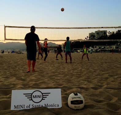 MINI Santa Monica beach volleyball
