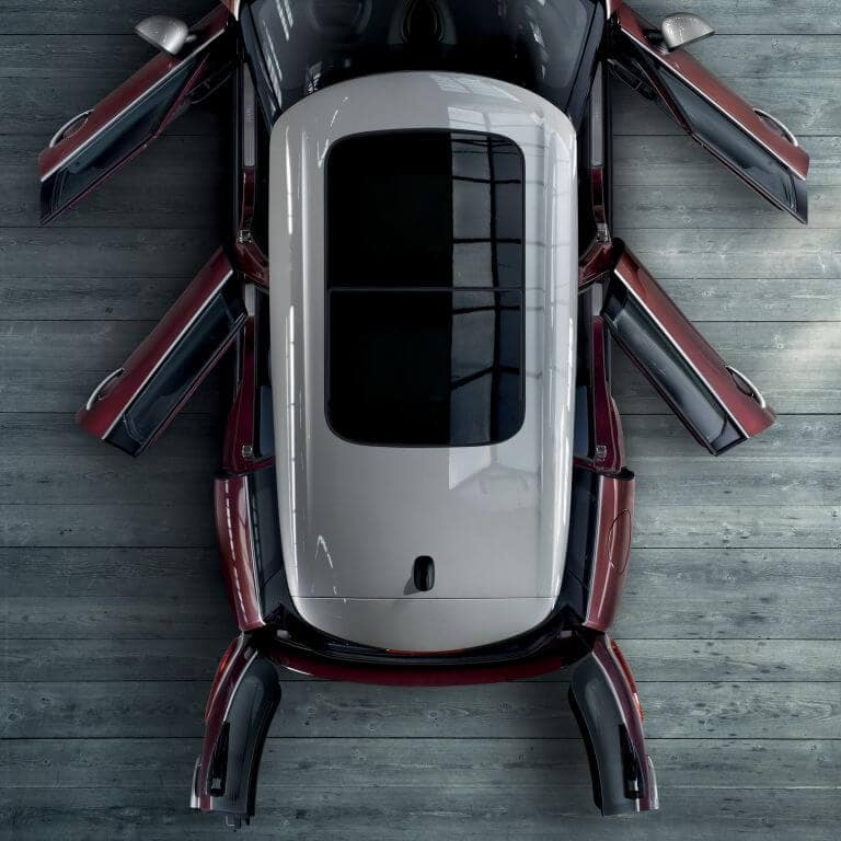 2017 MINI Clubman top view