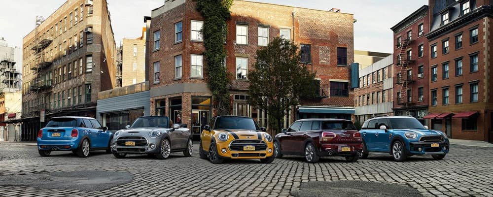 Mini Models Parked in Street
