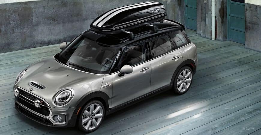 Silver MINI 4-Door in Pinewood Room