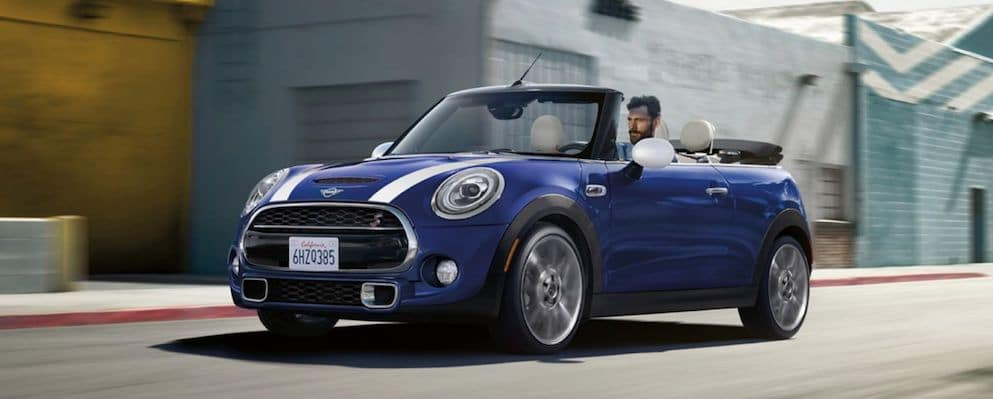 Man Driving MINI Convertible with California License Plate
