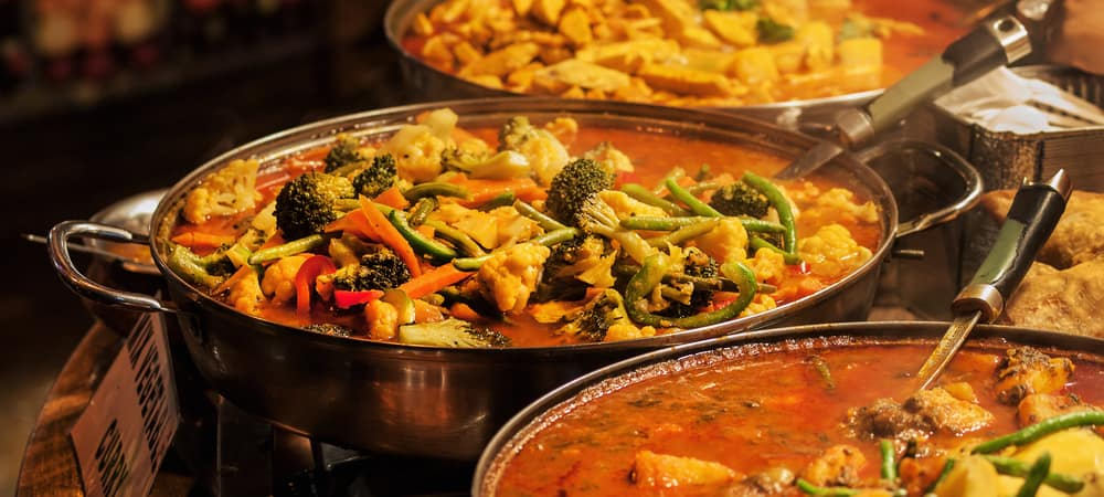 Vegetable curry - Indian takeaway