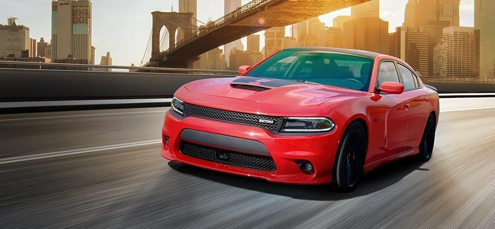 2018 Dodge Charger Red On Bridge