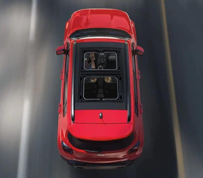 2018 Jeep Renegade overhead view