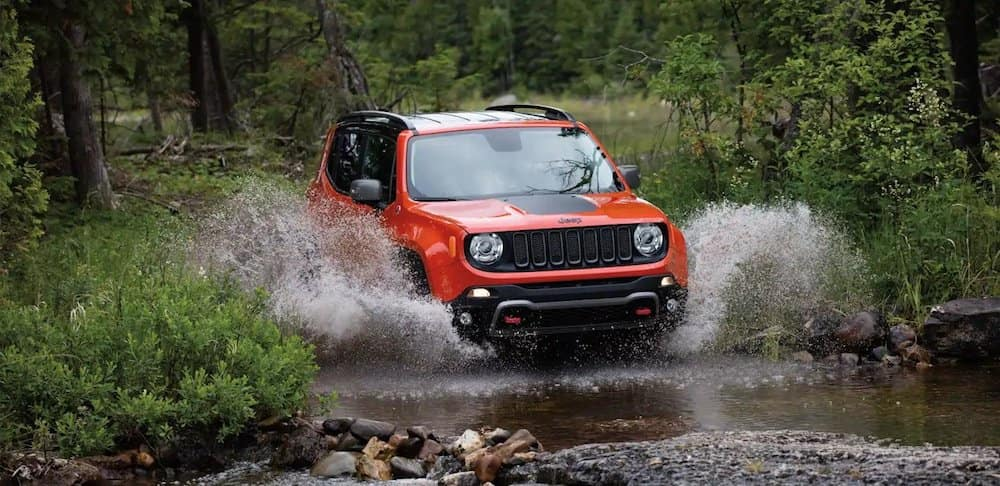 2018 Jeep Renegade water fording