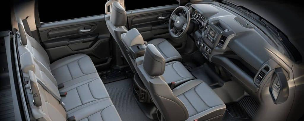 Interior of 2019 RAM 1500 tradesman