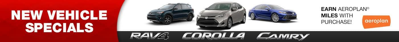Toyota Rav4, Corolla, and Camry