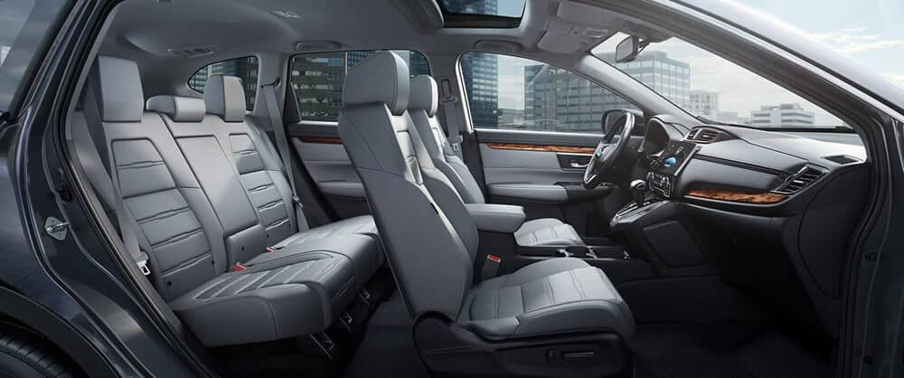 The seating arrangement in the Honda CR-V