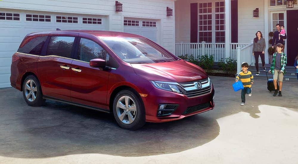 2018 Honda Odyssey In Driveway