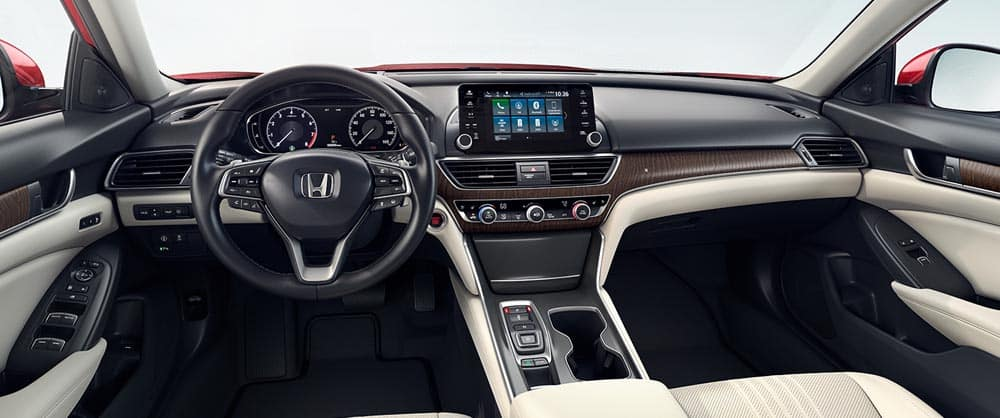 The dashboard on the interior of the 2018 Honda Accord