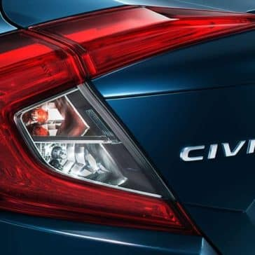 Rear taillight of 2018 Civic Sedan Touring