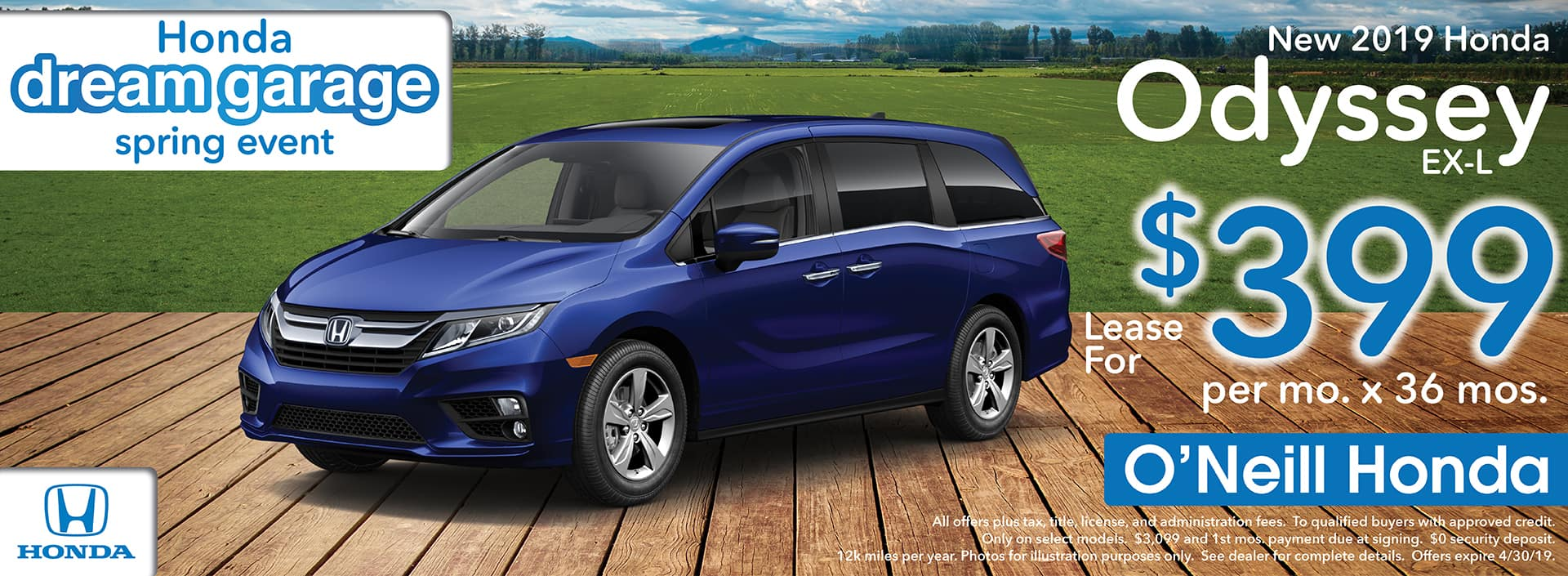 2018 Honda Odyssey Lease Offer