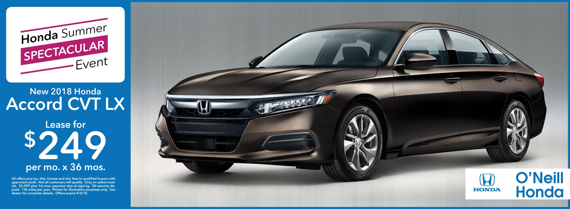 2018 Honda Accord Lease Offer
