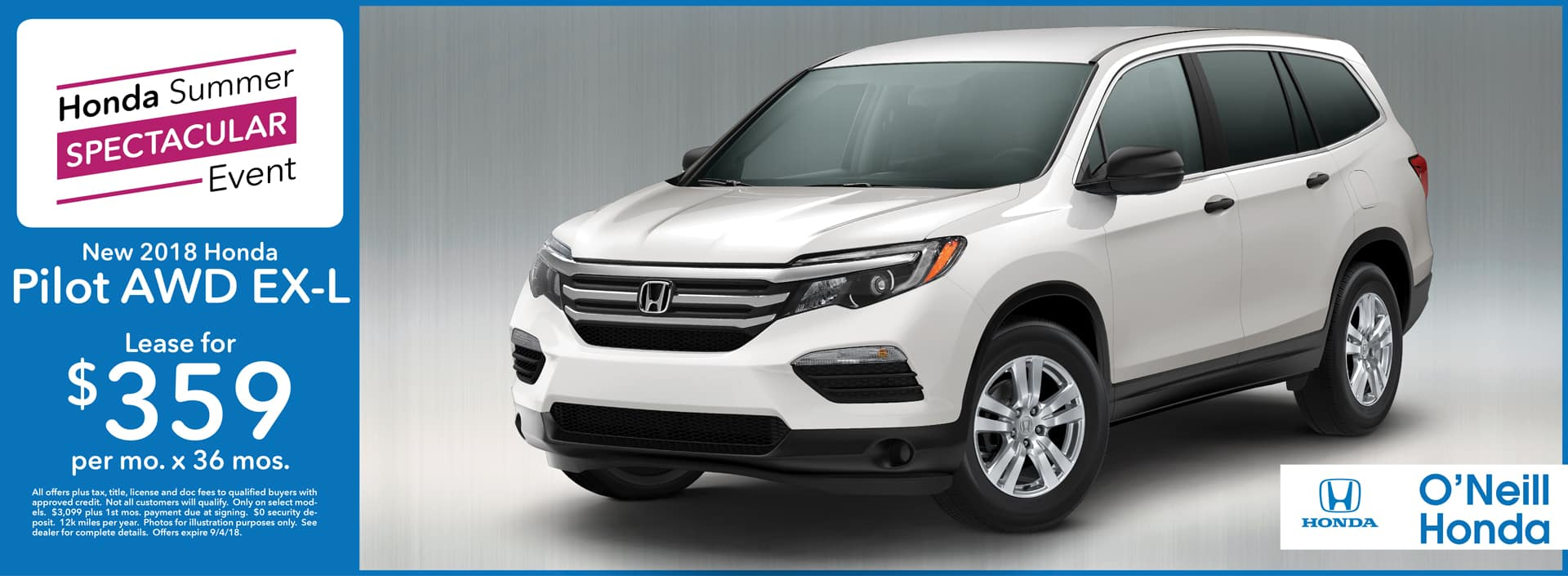 2018 Honda Pilot Lease Offer