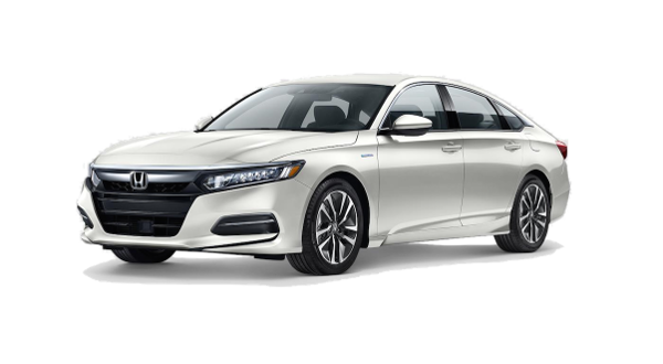 A White Orchid Peal 2018 Honda Accord Hybrid