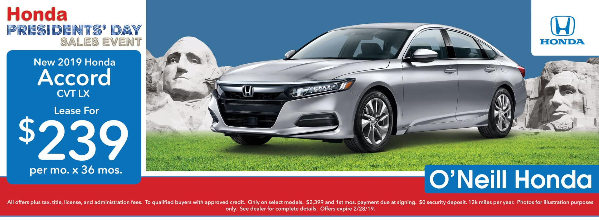 2018 Honda Accord Lease Offer