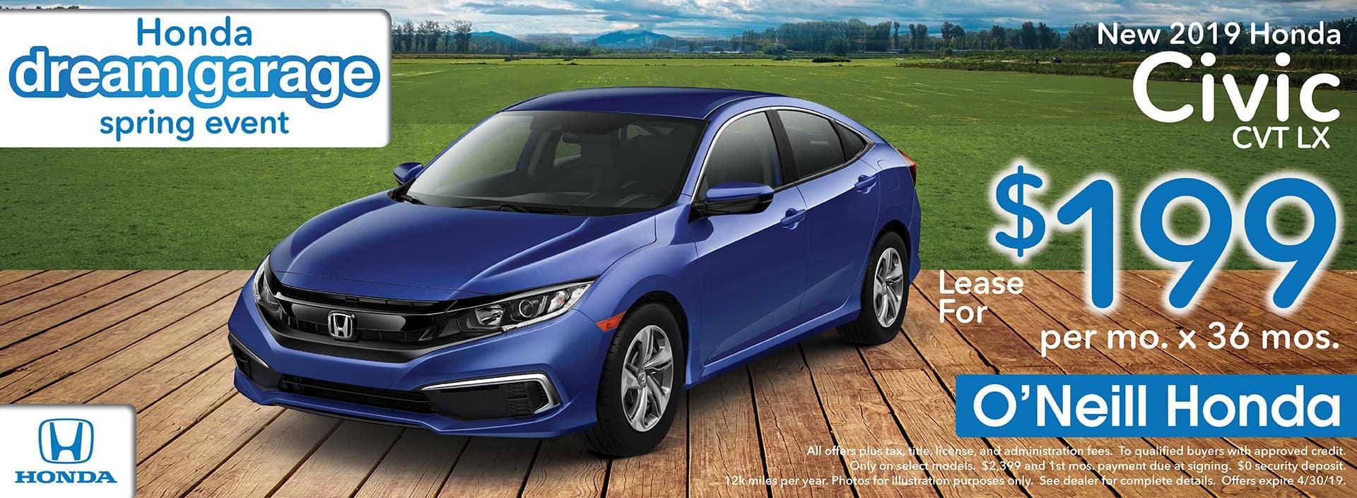 2018 Honda Civic Lease Offer