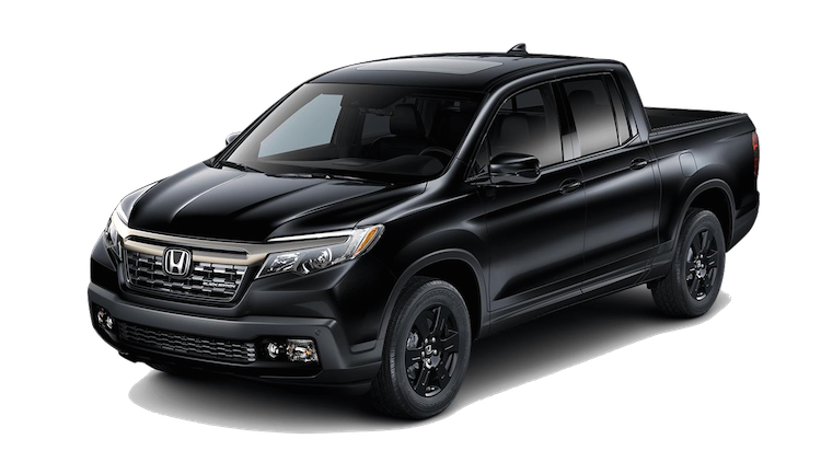 2019 Honda Ridgeline Black Edition on a transparent background