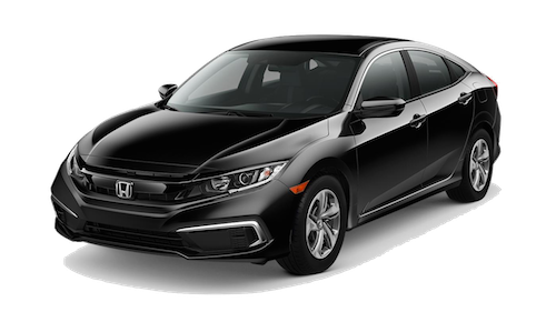 A black 2019 Honda Civic LX