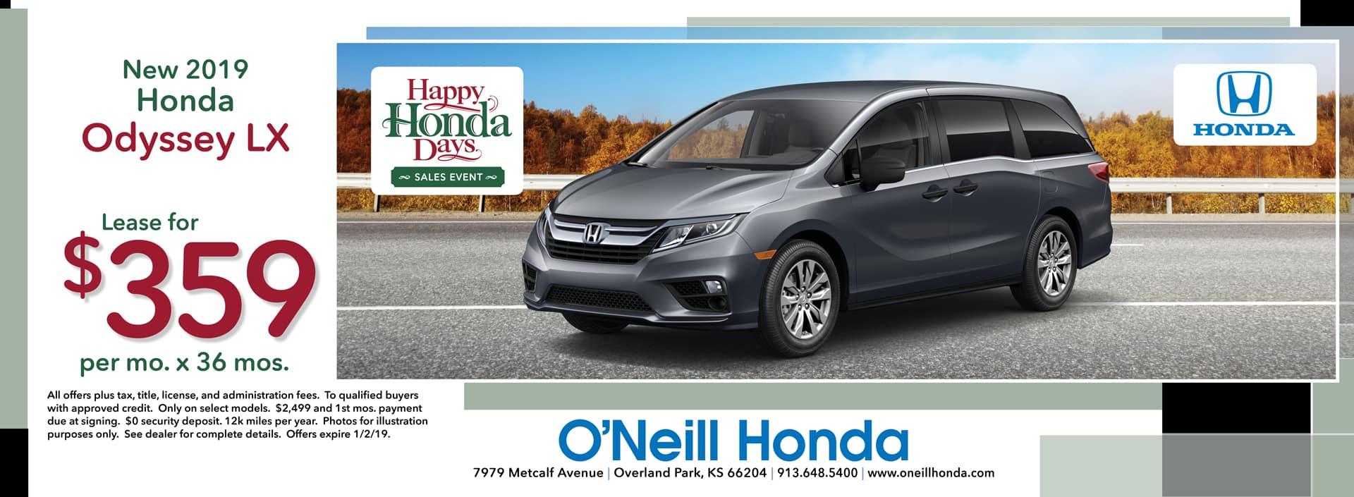 2018 Honda CR-V Lease Offer