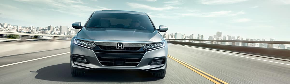 2019 Honda Accord grey front view parked