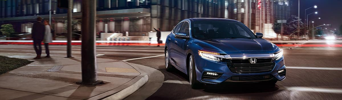 2019 Blue Honda Insight front exterior view