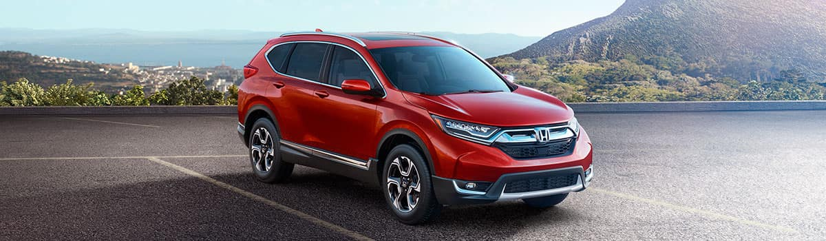 2019 Honda CR-V parked outside by mountains
