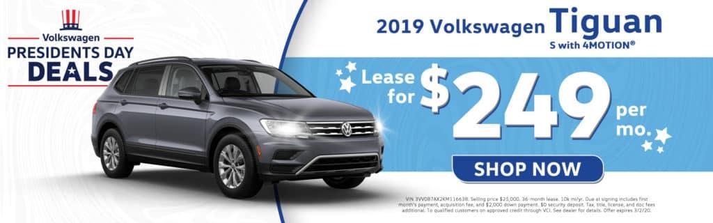 New 2019 Volkswagen Tiguan S 4Motion AWD