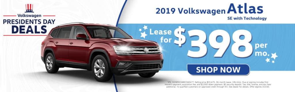 New 2019 Volkswagen Atlas SE w/Technology FWD 4D Sport Utility