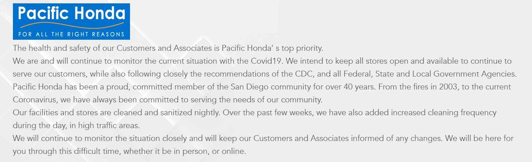 COVID-19 message