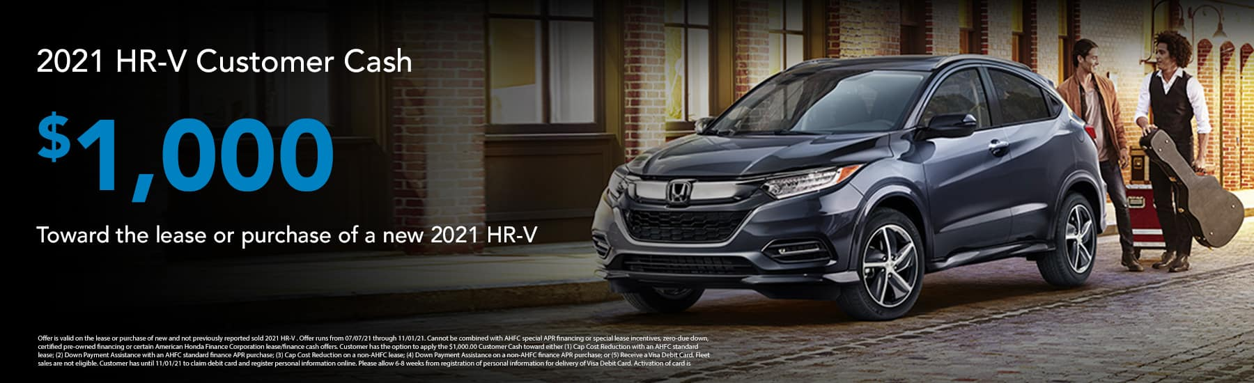 In appreciation for your military service, Honda is offering select U.S. Military individuals and their spouses $500 toward any 2020 or newer model year Honda automobile when you finance or lease through Honda Financial Services® (HFS). See offer details for customer and vehicle eligibility.