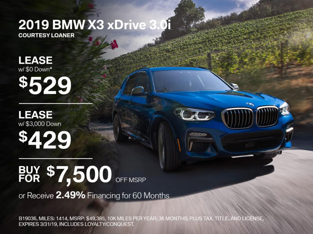 Certified Pre-Owned 2019 BMW X3 xDrive30i AWD