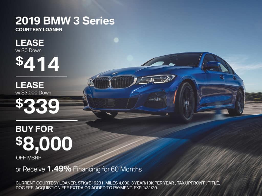Courtesy Loaner 2019 BMW 3 Series 330i xDrive AWD